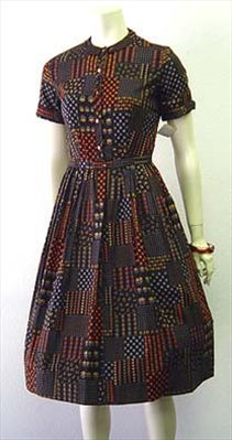 Lucy Style Vintage 50s Cotton Day Dress by Nelda's Vintage Clothing #vintage #dress #50s #1950s