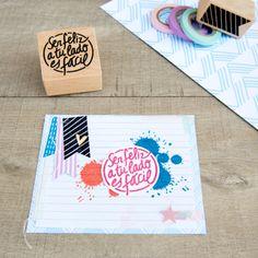 mrwonderful_sello_ser_feliz_a_tu_lado_es_facil_03  Se vende en: www.mrwonderfulshop.es #sello #stamp #DIY