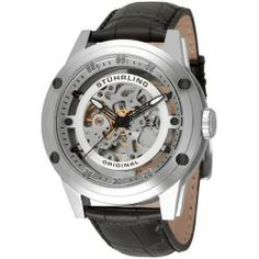 Stuhrling Original Men's Zeppelin 360 Automatic Skeleton Stainless-Steel Watch - products - Fashion Review Product
