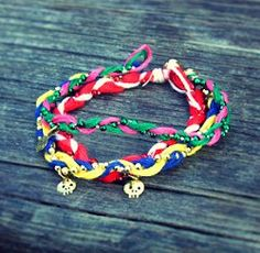 Colorful Braided Friendship Bracelets...these are so colorful and cute!...free instructions !