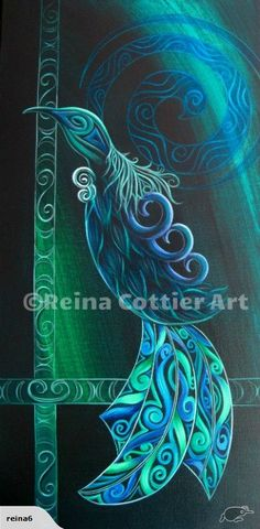 Tui Bird By Reina Cottier Painting by Reina Cottier Tui Bird, Maori Patterns, Maori Designs, New Zealand Art, Arte Country, Nz Art, Thing 1, Maori Art, Kiwiana