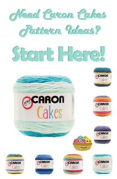 Awesome collection of Caron Cakes pattern ideas! Caron Cake Crochet Patterns, Caron Cakes Crochet, Crochet Cake, Crochet Crafts, Knit Or Crochet, Crochet Stitches, Crochet Projects, Knitting Patterns, Crochet Ideas