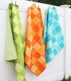 Simply Color Ombre Quilts  Wonderful quilts sewn by Amy Smart , fabric by Vanessa Christiansen!