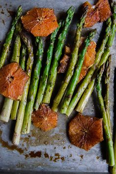 Balsamic Roasted Asparagus & Cara Cara Oranges
