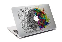 MacBook Decal denken verschillende / Custom creatieve Sticker voor Computer / Think verschillende Design / Apple Logo