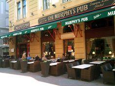Murphys Pub, Pecs Hungary, Deck Fireplace, Orange Leaf, Tree Quilt, Wood Bridge, Eat In Kitchen, Autumn Trees, House In The Woods