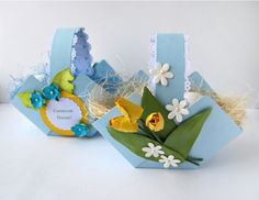 activités-pour-enfants-pâques-corbeille-carton-décorée-fleurs