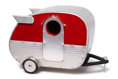 Well-traveled fowl will find refuge in this retro birdhouse camper.  ($60; etsy.com/shop/jumahl)   - CountryLiving.com