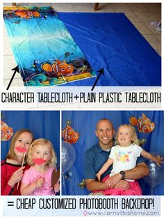 Finding Nemo Birthday Party from #Carriethishome #photobooth