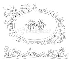 Doodle decor elements Royalty Free Stock Vector Art Illustration