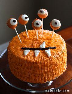 Еда на Хэллоуин - страшная и вкусная (39 примеров) - Торт-монстр
