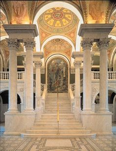 DC Library of Congress Discover and collect amazing bucket lists created by local experts. /exploreWashington DC Library of Congress Discover and collect amazing bucket lists created by local experts. Palaces, The Places Youll Go, Places Ive Been, Beautiful Library, Washington Dc Travel, Second Empire, Library Of Congress, Beautiful Buildings, Amazing Architecture