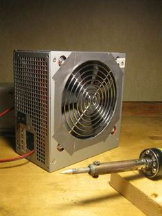 Soldering fume ventilator from PSU