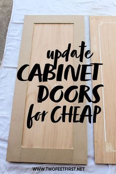 Are you looking for a kitchen makeover on a budget? Here is the PERFECT solution to update your cabinet doors with trim. Come see the DIY tutorial on how to give your a shaker style cabinet door for cheap. PS the before and after is amazing!! #kitchen #diy