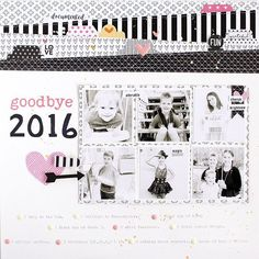 Creative Team member @gail_lindner is on the #BellaBlvd blog today sharing a precious layout commemorating 2016 using our black and white products with a pop of pink and we just LOVE it! Check out all the details at . www.bellablvd.typepad.com . #BB_CreativeTeam #BB_Tabbies #BB_Enamels