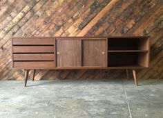 incredible mid century style custom media console credenza