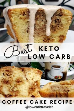 These are the best low carb keto coffee cake recipes I have made. You probably already have the items you need in your kitchen, or can easily grab it at your local grocery store. My low carb coffee cake recipe is not overly sweet and comes out moist like a crumble cake. Drizzle cream cheese icing over it to finish it off. Perfect to enjoy with coffee for breakfast. #lowcarbbreakfast #ketodessert #ketorecipes Cake Recipes, Snack Recipes, Dessert Recipes, Snacks, Diabetic Meals, Diabetic Friendly, Low Carb Breakfast, Breakfast Ideas, Low Carb Keto