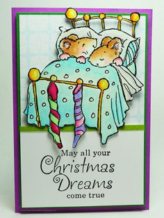 The night before christmas and all through the house, no creature was stirring not even a mouse ! Christmas Gift Tags, Christmas Greeting Cards, Christmas Wishes, Holiday Cards, Penny Black Cards, Penny Black Stamps, Decoupage, Making Greeting Cards, The Night Before Christmas