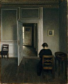 Vilhelm Hammershøi, Interior, Strandgade 30, 1908 (oil on canvas, 79 x 66 cm), ARoS Aarhus Kunstmuseum, Denmark