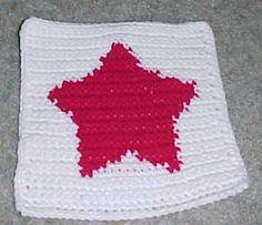 ROW COUNT Star Afghan Square Crochet Pattern. ☀CQ #crochet #christmas http://www.pinterest.com/CoronaQueen/crochet-christmas-corona/