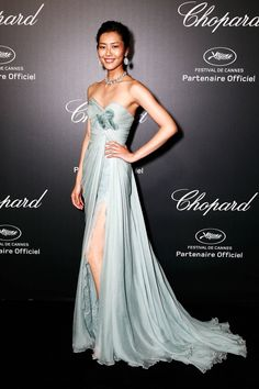 Cannes Fashion - Red Carpet Dresses at Cannes 2014 - Harper's BAZAAR | Liu Wen in Elie Saab