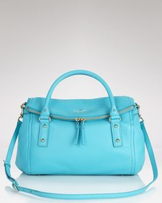 Adriatic Blue Leslie Satchel by Kate Spade ❤♔Life, likes and style of Creole-Belle ♥