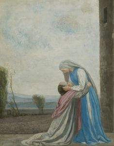 The Meeting of the Virgin and Saint Elizabeth // 1910 // Robert Anning Bell // Manchester Art Gallery Catholic Art, Religious Art, Jesus E Maria, Spiritual Paintings, Manchester Art, Saint Matthew, Holy Rosary, Hail Mary, Madonna And Child