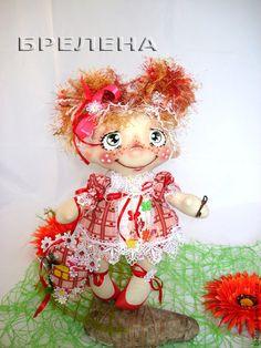 Кукла Домашняя феечка Зеленоглазка. - оберег,обереги в подарок,интерьерная кукла Rag Dolls, Soft Dolls, Stuffed Toys, Doll Clothes, Teddy Bear, Hair, Animals, Baby Dolls, Tela