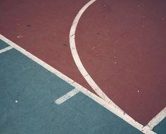 Vintage basketball court