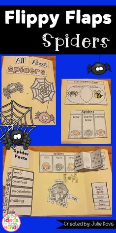 Do you think spiders are creepy, scary, or cool? Get your students excited to learn all about spiders! They will explore all about spiders in this fun, hands-on, interactive Lapbook! Your students will be engaged and learn about spiders in many different ways!  What activities are included: ☆ Spiders can/have/are ☆ Label a spider ☆ Life Cycle of a Spider ☆ All About Spiders ☆ Spiders KWL ☆ Spider Vocabulary ☆ Spider Facts ☆ Favorite Spider Book ☆ Compare Spider & Ant ☆ Compare Spider…