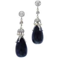 Belle Époque Natural Sapphire and Diamond Pearl Dangle Earrings (€98.530) ❤ liked on Polyvore featuring jewelry, earrings, white pearl earrings, sapphire jewelry, sapphire earrings, diamond dangle earrings and diamond jewelry