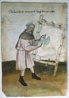 Parchment making...