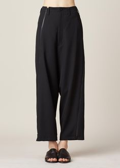 Yohji Yamamoto High Waisted Trouser (Black)
