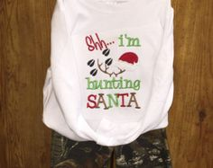 Christmas Hunting Little Boys Camo Outfit - top and bottoms  avaliable in long or short sleeves!