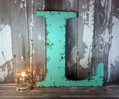 Rustic Letter home decor A B C D E F G H I J K L by ThePinkToolBox