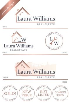 Realtor Logo, Real Estate Logo Design, Real Estate Branding Kit, House logo Key Logo Real Estate bra