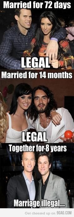 It's the sanctity of marriage people! We must protect the rights of those short term marriages so long term don't stand a chance!!!! (lol)