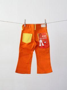 vintage bell bottoms / kids jeans / 60s big yank pants / size 3