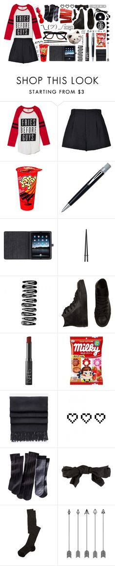 """""""Fries before guys, clothes before bros, foods before dudes"""" by jaimiee-rita ❤ liked on Polyvore featuring moda, RED Valentino, L'Oréal Paris, Mulberry, Converse, NARS Cosmetics, Acne Studios, CHESTERFIELD, Retrò i Merona"""