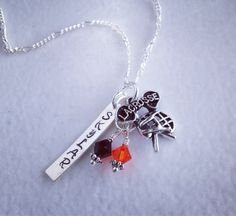 Sporty Girl Lacrosse Personalized Hand Stamped Swarovski Necklace-Any Color Crystal Available on Etsy, $22.00