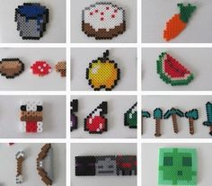 Perler beads make for an exciting afternoon of crafting. | 31 DIY Birthday Party Ideas That Will Blow Your Minecraft