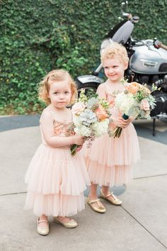 Flower Girls - Amy Fanton Photography | Turquoise, Coral & Gold Wedding in California