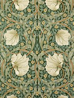 Buy Sanderson Wallpaper, Morris & Co Pimpernel, Privet / Slate, 210389 online at JohnLewis.com - John Lewis