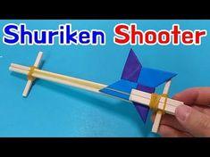 [Shuriken Gun] How to make Origami ninja star Shooter Origami Toys, Paper Crafts Origami, Projects For Kids, Diy For Kids, Crafts For Kids, Market Day Ideas, Diy Popsicle Stick Crafts, Ninja Star, Ninja Party