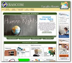 Universal Human Rights Month - December 2014, BASCOM's Faculty Room offers resources for educators to help teach students about human rights and other monthly celebrations