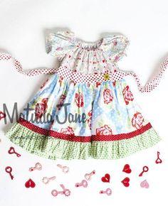 BERRY CLOUDY peasant dress (RV $56) 12M, 18M, 2, 4, 6 ~ Platinum