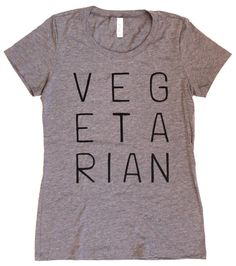 Vegetarian WOMENS T-Shirt Available in S M L XL by LastCoast
