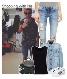 """""""Shopping with Niall"""" by xcuteniallx ❤ liked on Polyvore featuring Blank Denim, Current/Elliott, John Lewis, adidas, rag & bone, Speck and Ray-Ban"""