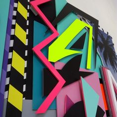 #illustration#type#handtype#collage#typography#colors#vinyl#sticker#popart#contemporaryart#sculptur#3d