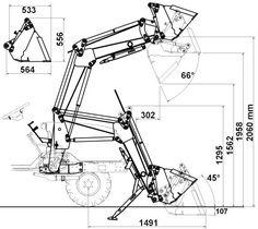 homebuilt hydraulic tractor bucket attachment free diy